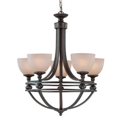 Jeremiah Seymour Oiled Bronze Chandelier