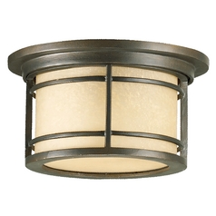 Quorum Lighting Larson Oiled Bronze Close To Ceiling Light