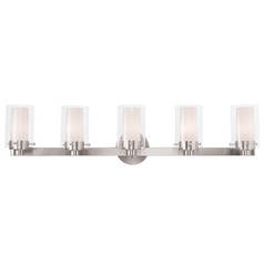 Livex Lighting Manhattan Brushed Nickel Bathroom Light