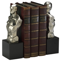 Cyan Design Hercules Chrome with Black Granite Base Bookend