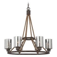Savoy House Artisan Rust Chandelier