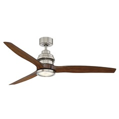 Savoy House Lighting La Salle Satin Nickel LED Ceiling Fan with Light