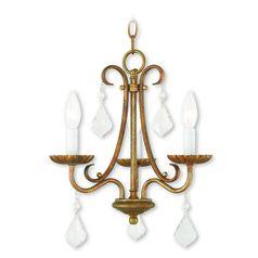 Livex Lighting Daphne Antique Gold Leaf Mini-Chandelier
