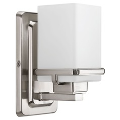 Modern Sconce Brushed Nickel Metric by Progress Lighting