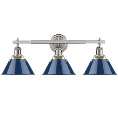 Golden Lighting Orwell Pw Pewter Bathroom Light