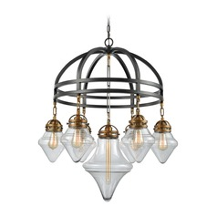 Elk Lighting Gramercy Oil Rubbed Bronze / Brass Chandelier