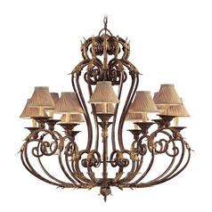 Old World Bronze Chandelier Light - Shades Not Included