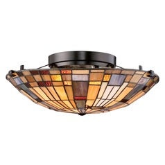 Quoizel Inglenook Valiant Bronze Semi-Flushmount Light