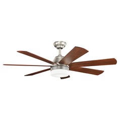 Kichler Lighting Ellys Brushed Nickel LED Ceiling Fan with Light