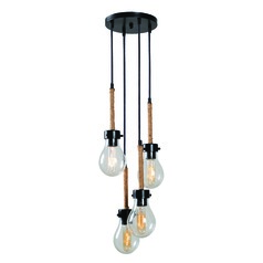 Seeded Glass Multi-Light Pendant Bronze by Kenroy Home