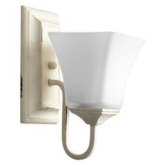 Quorum Lighting Aged Brass Sconce