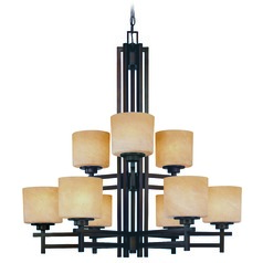 Two-Tier Nine-Light Chandelier
