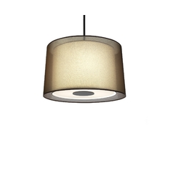 Three-Light Barrel Shade Pendant