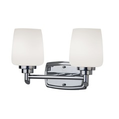 Design Classics Lighting Two-Light Bathroom Vanity Light 462-26