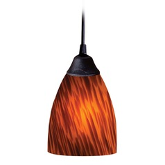 Classico Dark Rust Mini-Pendant Light  - Includes Recessed Adapter Kit