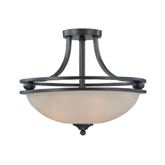 Jeremiah Seymour Oiled Bronze Semi-Flushmount Light
