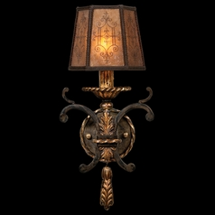 Fine Art Lamps Epicurean Charred Iron with Brule Highlights Sconce