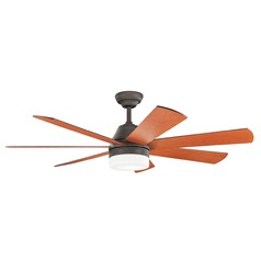 Kichler Lighting Ellys Olde Bronze LED Ceiling Fan with Light