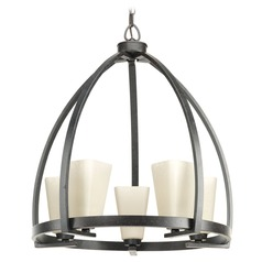 Progress Lighting Ridge Espresso Pendant Light with Square Shade