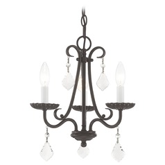 Livex Lighting Daphne English Bronze Mini-Chandelier