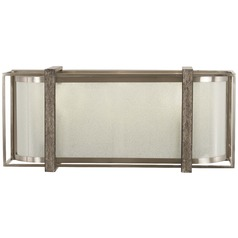 Minka Lavery Tyson's Gate Brushed Nickel with shale Wood Bathroom Light