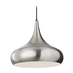 Modern Pendant Light in Brushed Steel Finish