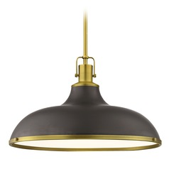 Nautical Large Pendant Light Bronze / Brass 18.38-Inch Wide