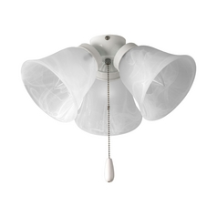 Progress Ceiling Fan Light Kit with Alabaster Glass in White
