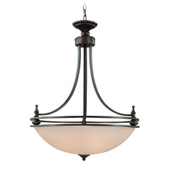 Jeremiah Seymour Oiled Bronze Pendant Light with Bowl / Dome Shade