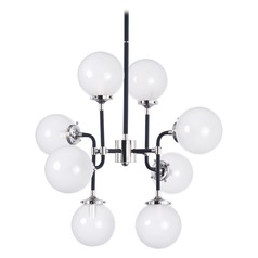 Atom Black and Polished Nickel Pendant Lighting