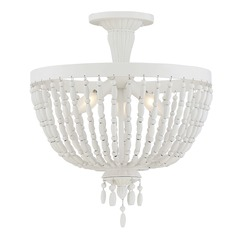 Savoy House Lighting Geneva Porcellan Semi-Flushmount Light
