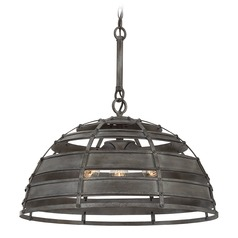 Savoy House Lighting Malden Raw Steel Pendant Light with Bowl / Dome Shade