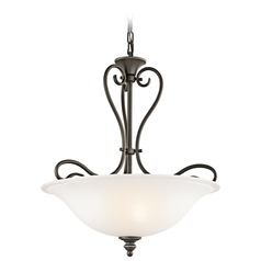 Kichler Lighting Tanglewood Olde Bronze LED Pendant Light with Bowl / Dome Shade