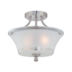 Lite Source Lighting Niccolo Polished Steel Semi-Flushmount Light