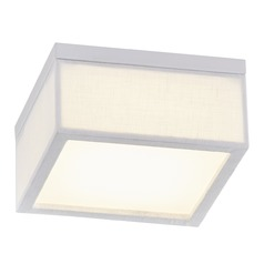 Design Classics Glee White 6-Inch Square LED Flushmount Light