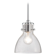Seeded Glass Mini-Pendant Light Chrome Minka Lavery