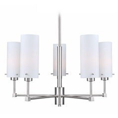 Lite Source Lighting Scarlett Polished Steel Chandelier