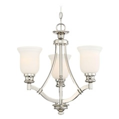 Minka Audrey's Point 3-Light Chandelier in Polished Nickel
