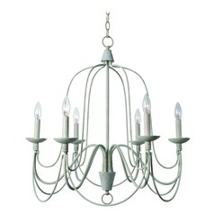 Pannier White Chandelier by Kenroy Home