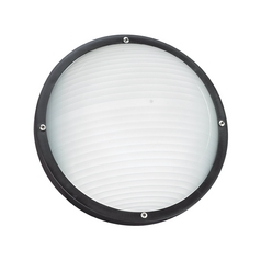 Black 10-Inch Round Bulkhead Light