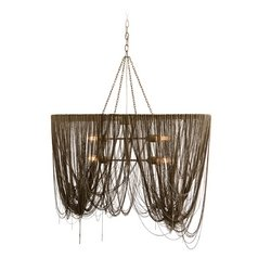 Arteriors Home Lighting Layla Antique Brass Pendant Light