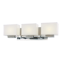 Three-Light Polished Chrome Vanity Light
