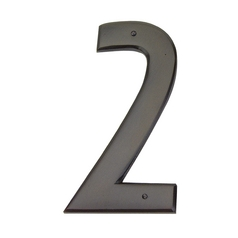 House Number in Aged Bronze Finish