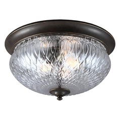 Sea Gull Lighting Garfield Park Burled Iron Close To Ceiling Light