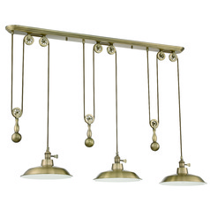 Barn Light Pendant Brass 12-inch Wide by Craftmade Lighting