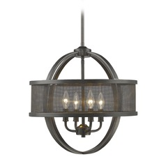 Golden Lighting Colson Eb Etruscan Bronze Mini-Chandelier