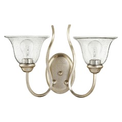 Quorum Lighting Spencer Aged Silver Leaf Bathroom Light