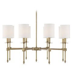 Savoy House Lighting Chatham Warm Brass Chandelier