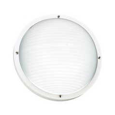 White 10-Inch Round Bulkhead Light