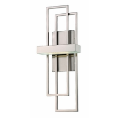 Modern LED Sconce Wall Light in Brush Nickel Finish